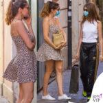 laetitia casta fa shopping a roma con la figlia Sahteene Sednaoui