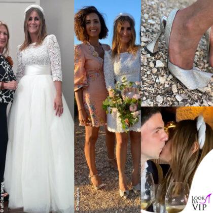Favignana: matrimonio Sarah Balivo, abito da sposa Pinella Passaro scarpe Madame Cosette. Caterina Balivo abito Zimmermann