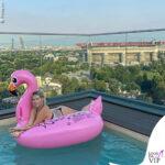 wanda nara in intimo in piscina