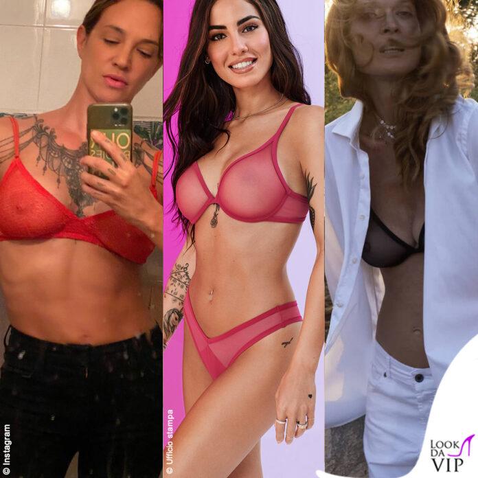Asia Argento, Giulia De Lellis, Jane Alexander con il reggiseno trasparente