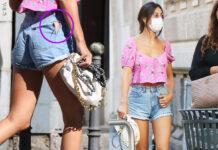 Cecilia Rodriguez e Veronica Cozzani: a Milano con borsa Bottega Veneta, top a fiori e... buco sui pantaloni