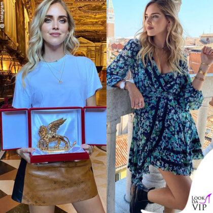 chiara ferragni a venezia riceve il leone d oro
