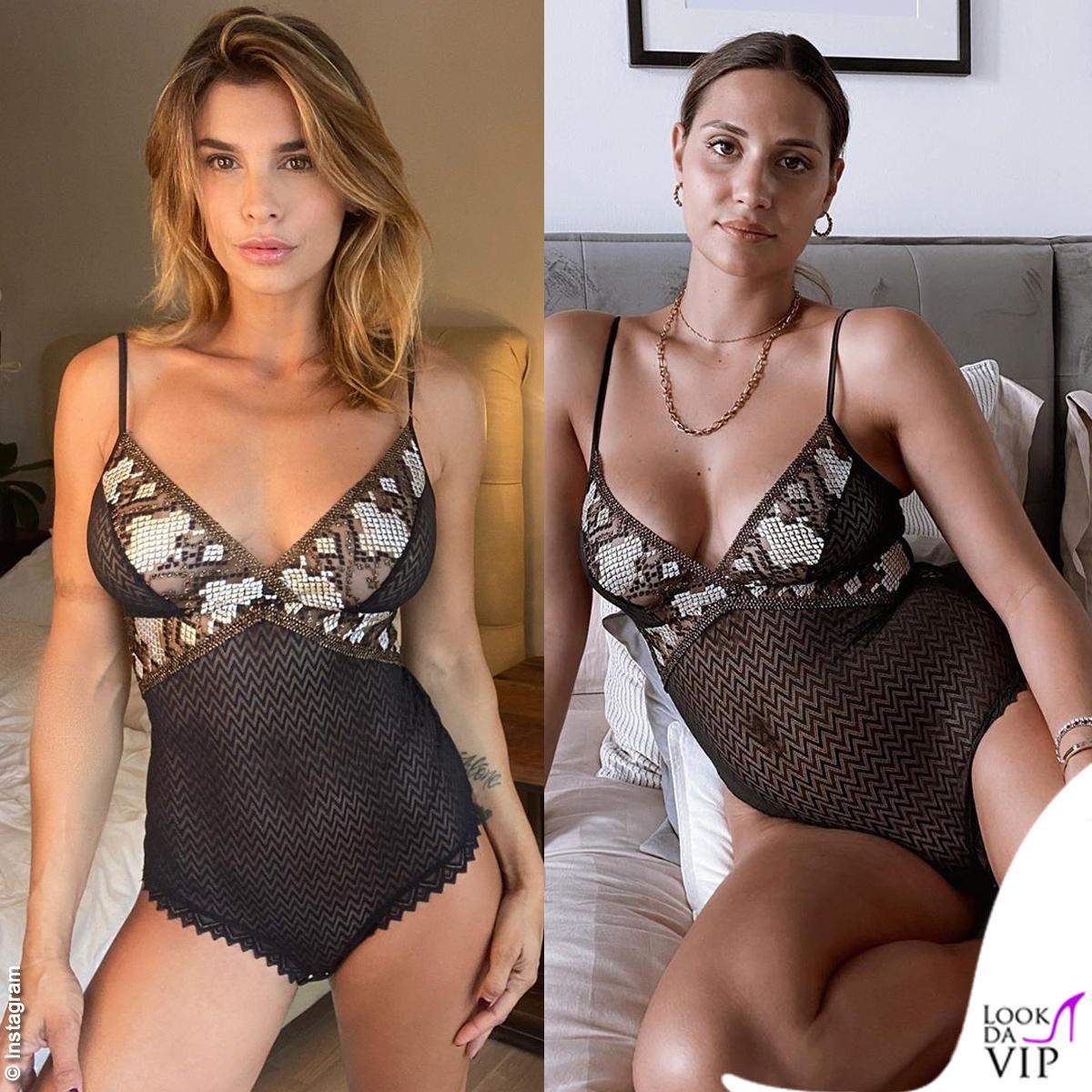 Elisabetta Canalis e Beatrice Valli: stessa lingerie, seduzione differente