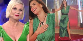 GF Vip 1, puntata: Dayane Mello con un abito Viki And, Antonella Elia con un abito La Petite Robe