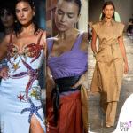 MFW Irina Shayk per Versace Tods Hugo Boss