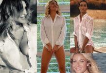 Sabrina Salerno Barbara dUrso Elisabetta Gregoraci Diletta Leotta camicia bianca