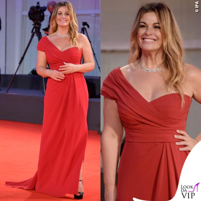 Vanessa Incontrada Venezia 77 abito Dolce Gabbana gioielli Tiffany