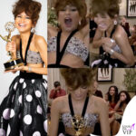 Zendaya Emmy Awards 2020 abito Giorgio Armani Prive wardrobe malfunction