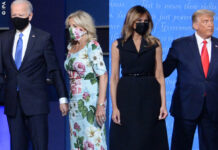 Donald Melania Trump Joe Jill Biden duello