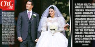 Matrimonio Luigi Berlusconi e Federica Fumagalli abito da sposa Alessandra Rich (foto CHI)