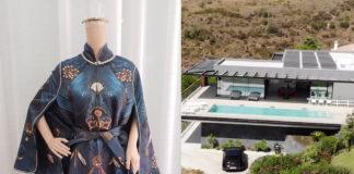 Miliardaria festa anti covid outfit Debbie Wingham location principale gift box
