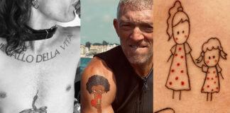 tatuaggi vip Maneskin Cassel Provvedi Caracciolo Rodriguez Pellegrini