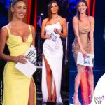 Belen Rodriguez, Tu si que vales: tutti i look. Abito Mugler, abito Lia Stublla, vestito Matteo Manzini