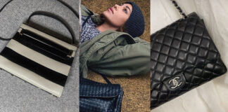 Belen Rodriguez borse luxury Valentino Chanel Hermes Bottega Veneta