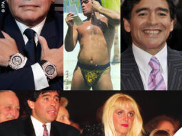 Diego Armando Maradona look cravatte Versace gioielli orologi