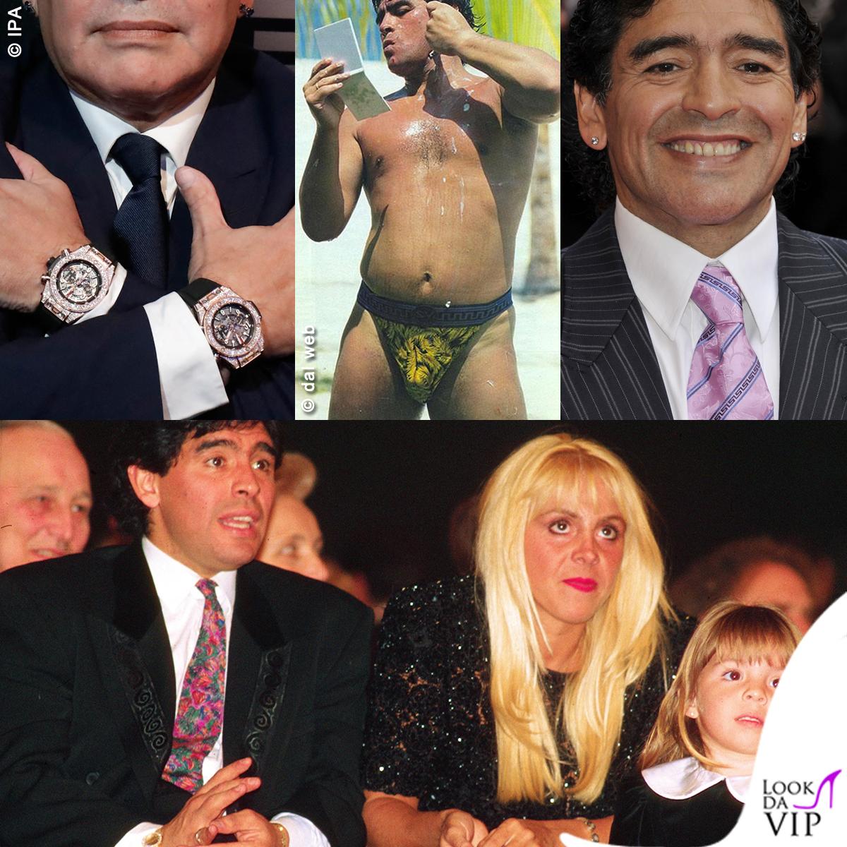 Maradona elegante ma esagerato: ecco come è diventato un mito anche per la moda
