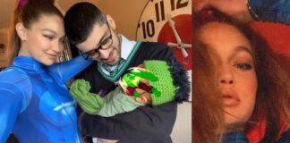 Gigi Hadid Samus Aran Zayn Malik Serpeverde primo selfie di famiglia ad Halloween