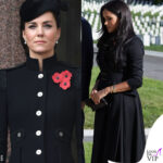 kate middleton e meghan markle si sfidano con il look per il remembrance sunday