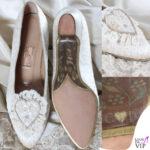 Lady diana spencer abito da sposa scarpe Clive Shilton