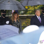 melania trump in dolce gabbana per il veterans day