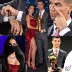 Cristiano Ronaldo Georgina Rodriguez Dubai Calciatore del Secolo 1