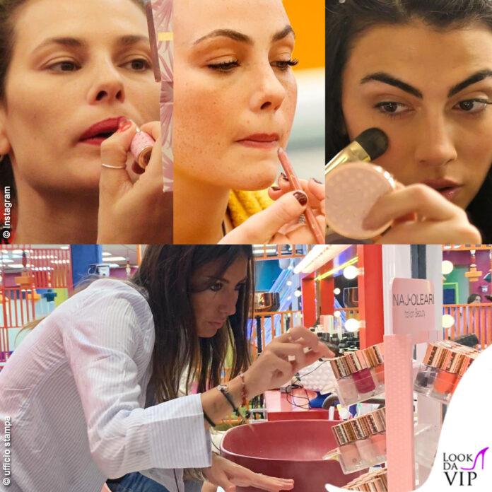 GF Vip Mello Del Vesco Gregoraci Salemi trucchi make up Naj Oleari
