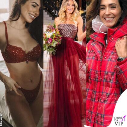 Giulia De Lellis diletta Leotta Caterina Balivo outfit rosso