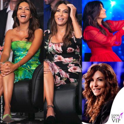 Sabrina Ferilli a Tu si que vales: abiti Versace Dolce Gabbana N21