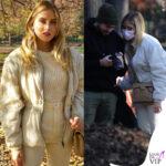 Luca Vezil e Valentina Ferragni al parco Indro Montanelli con borsa Chanel e pantaloni Isabel Marant per un post da influencer (Instagram)