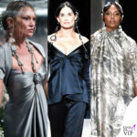 demi moore e le altre star protagoniste della sfilata fendi haute couture