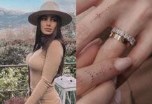 Giulia De Lellis tattoo sulle dita, anello Cartier Love maglia Intimissimi
