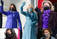 Inauguration Day Kamala Harris Jill Biden Hillary Clinton Laura Bush Michelle Obama cappotto