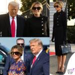 Melania Trump giacca Chanel scarpe Louboutin borsa Hermes abito Gucci