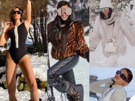 le star sulla neve nei loro look firmati e costosi