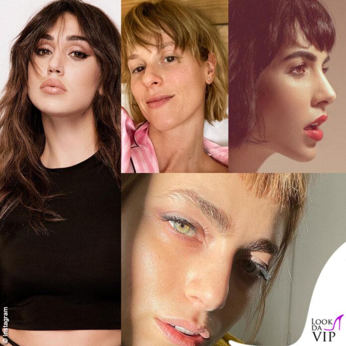 Cecilia Rodriguez Federica Pellegrini Rocio Munoz Morales Miriam Leone nuovo look frangetta