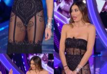 Elisabetta Gregoraci GF Vip 38 puntata nude look abito Bartolotta & Martorana
