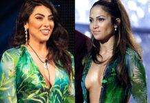 Giulia Salemi GF Vip 40 puntata abito jungle dress Versace: l'outfit di Jennifer Lopez