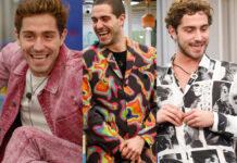 Tommaso Zorzi look GF Vip: completo MSGM, completo Marcelo Burlon, completo MArsem e camicia Benevierre