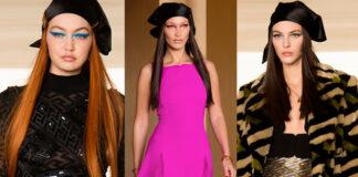 Gigi Hadid Bella Hadid Vittoria Ceretti sfilata Versace FW21-22