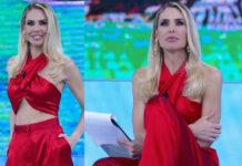 Ilary Blasi Isola 2 puntata outfit FP Salerno orecchini Bozart scarpe Le Silla