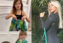 Le figlie di wanda icardi, francesca e isabella, trasformano un paio di leggings in versace in top