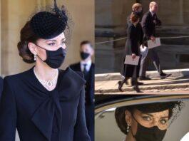 kate middleton duchessa di grazia ed eleganza al funerale di filippo