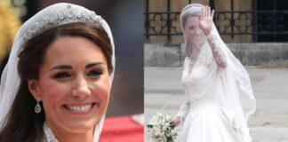william e kate festeggiano dieci anni di matrimonio: i dettagli del look della sposa