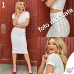 Michelle Hunziker top gonna Genny fotoritocco