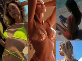 Soleil Sorge Madalina Ghenea Belen Rodriguez Zoe Cristofoli costume bikini