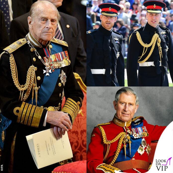 gli uomini della famiglia reale britannica non indosseranno l'uniforme al funerale di filippo per decisione della regina elisabetta