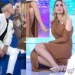 Ilary Blasi Isola 14 puntata abito Rhea Costa stivale-calza Le Silla Jeda