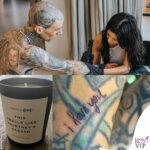 kourtney kardashian tatua il fidanzato travis barker