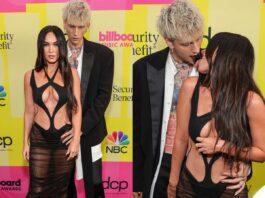 megan fox e machine gun kelly provocano sul red carpet dei billboard music awards