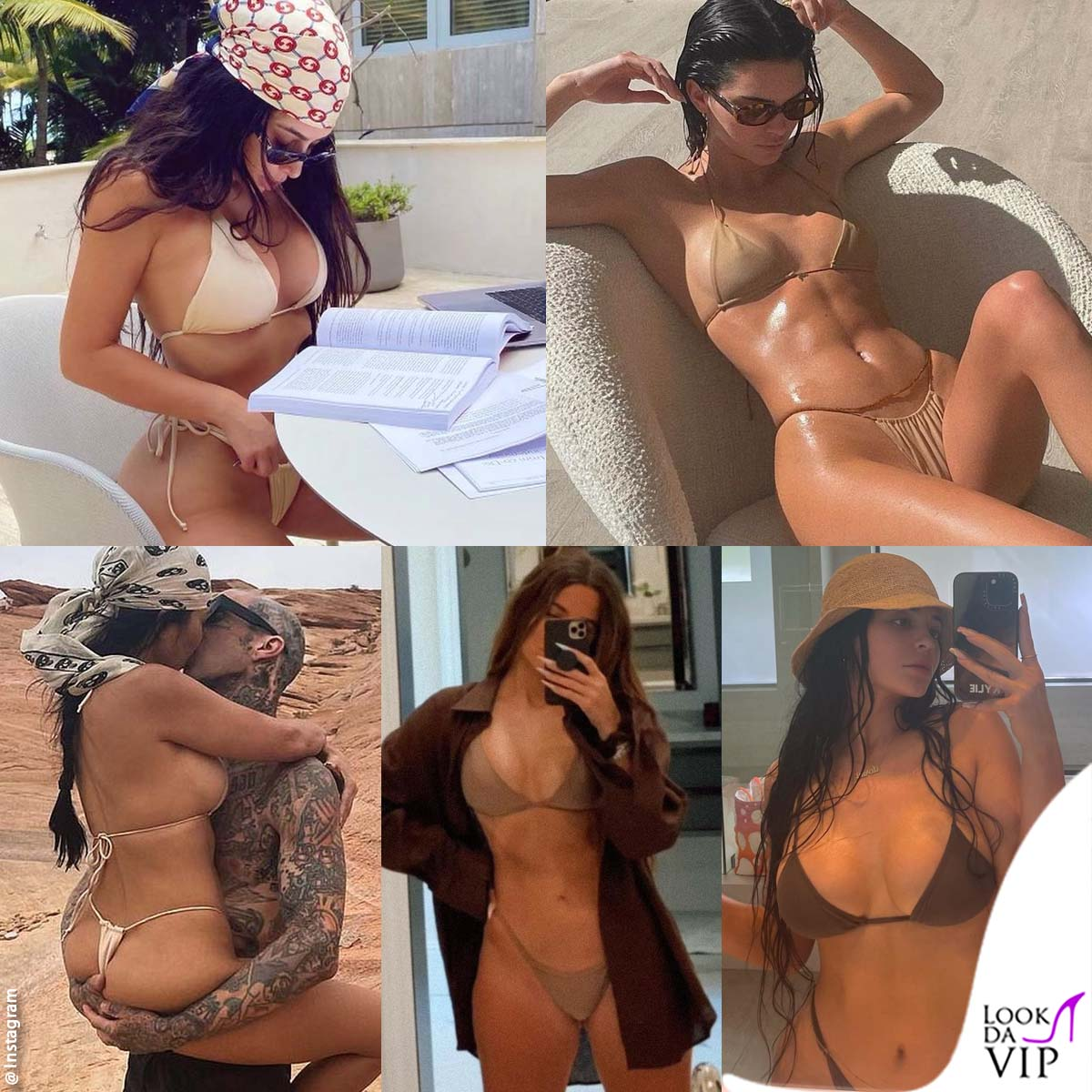Primavera nei micro bikini color carne per le sorelle Kardashian